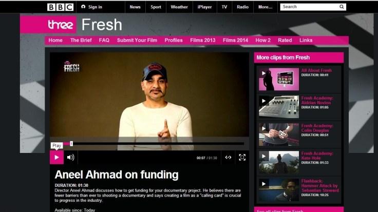 aneel ahmad bbc three bbc fresh 2014
