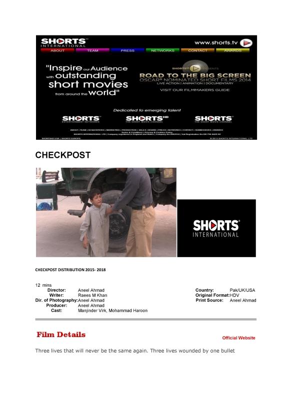 Shorts international checkpost2015
